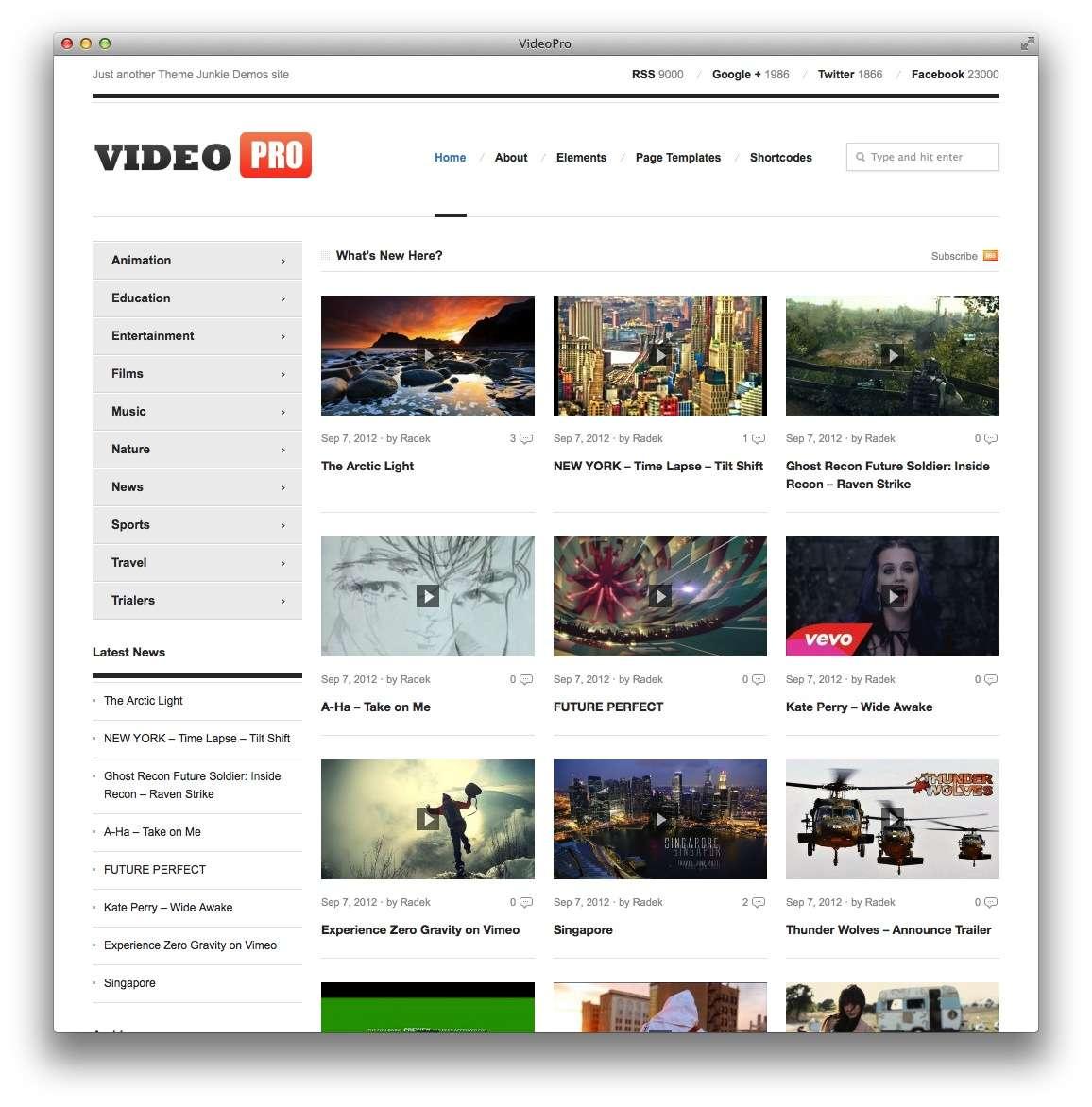 темы WordPress для видео