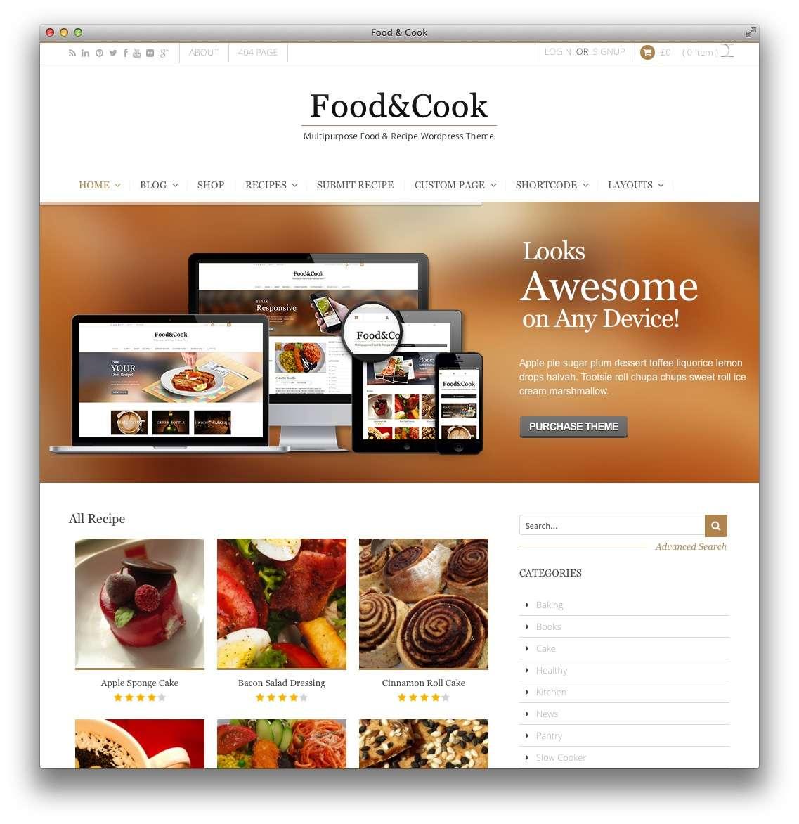 кулинарные темы WordPress 11
