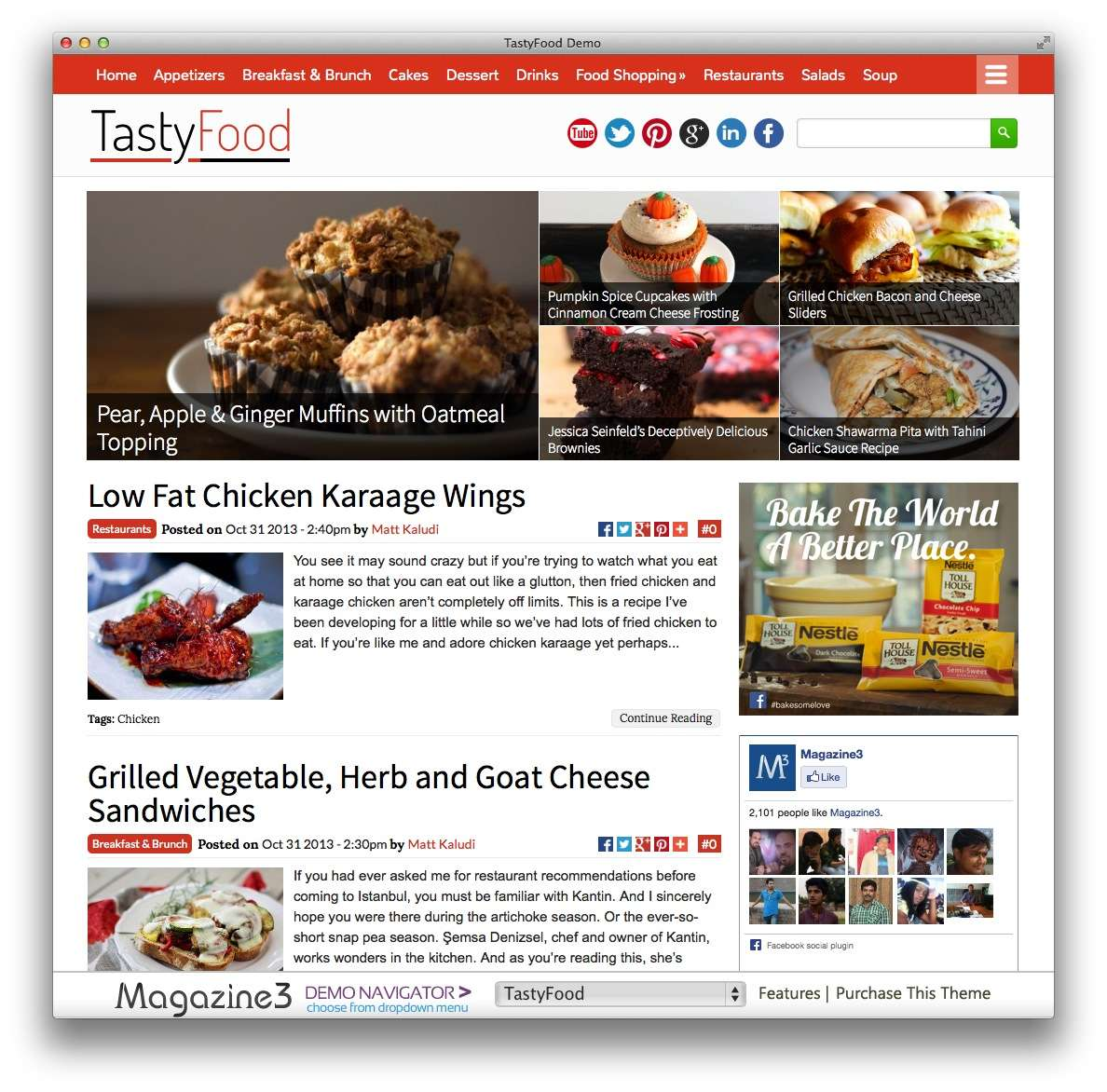 кулинарные темы WordPress 16