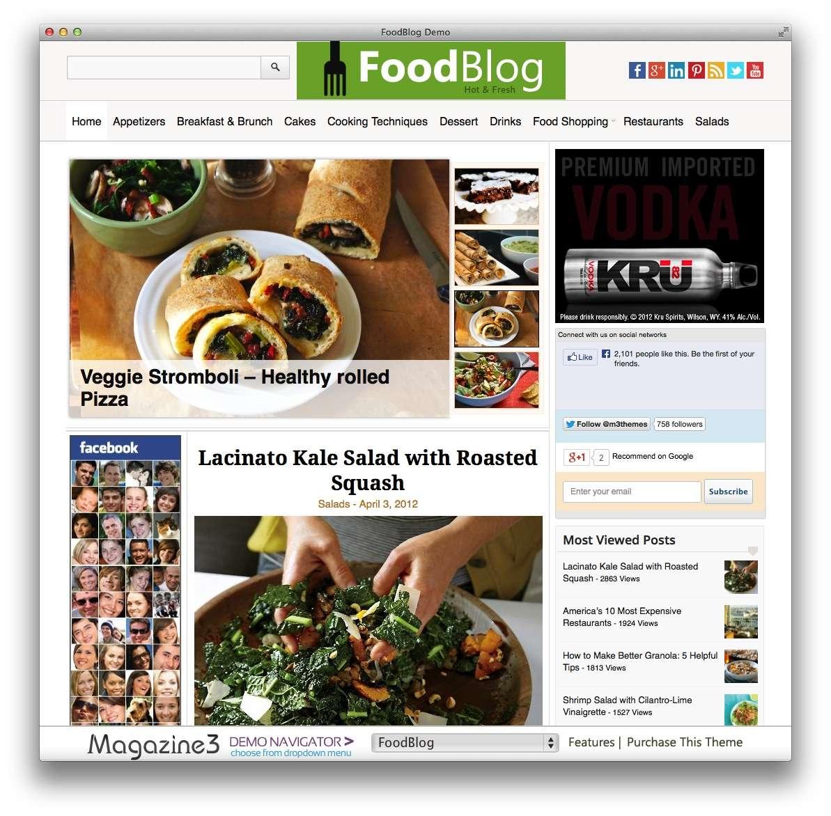 кулинарные темы WordPress 17