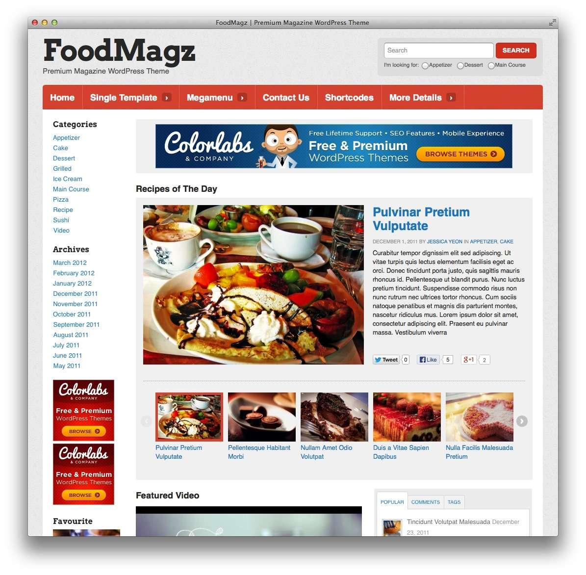 кулинарные темы WordPress 18