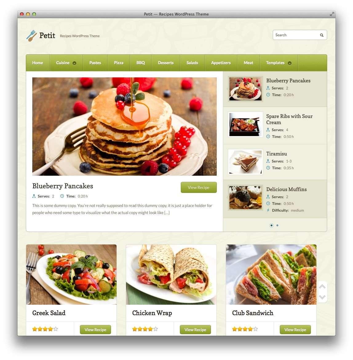 кулинарные темы WordPress 7