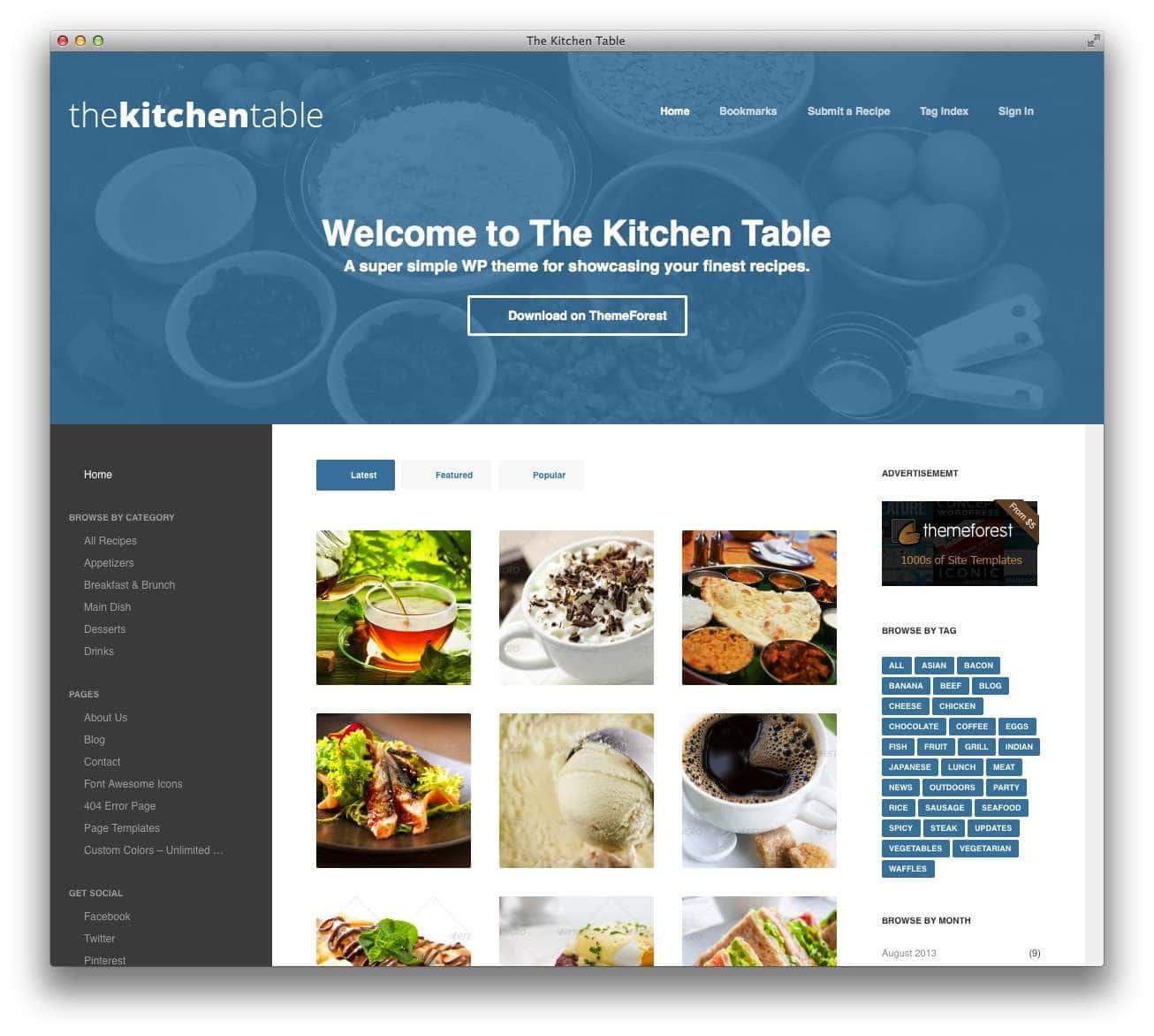 кулинарные темы WordPress 8