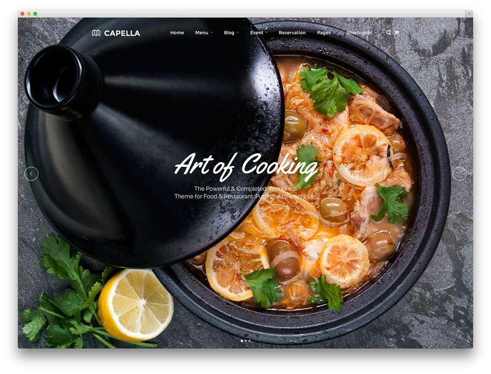 Потрясающие кулинарные темы WordPress о еде