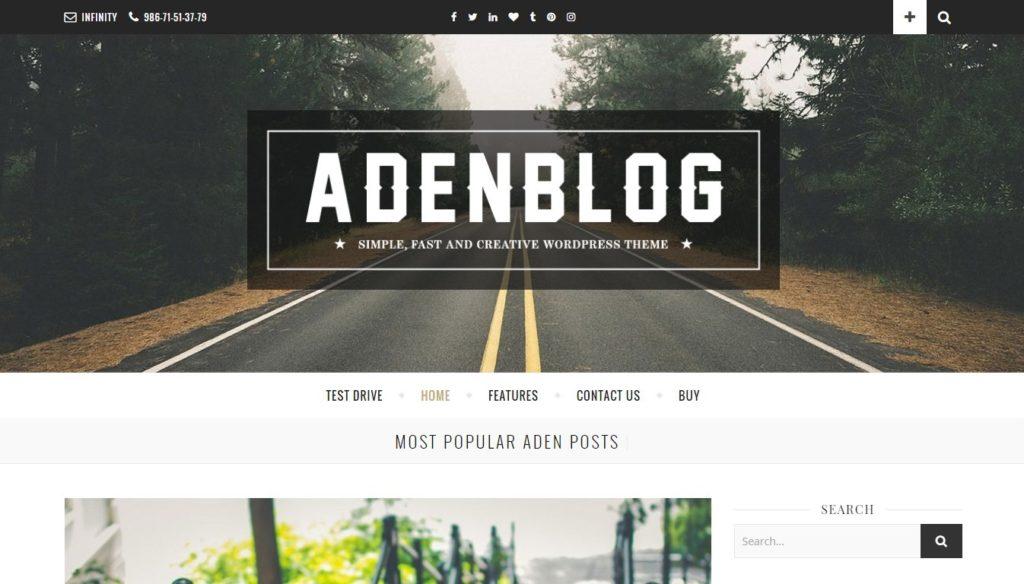 лучшие минималистские темы WordPress для бизнеса и блогов 05