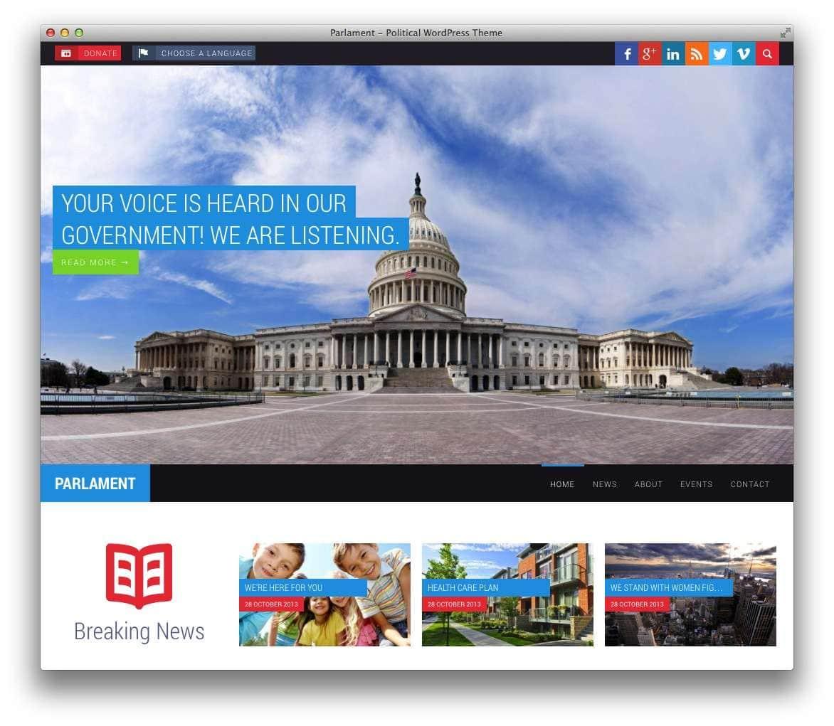 Веб-сайт политическим партиям и депутатам