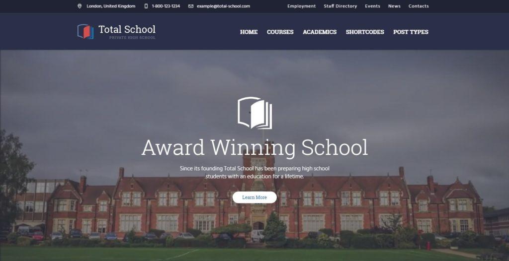 сайт для курсов школы университета на WordPress 03