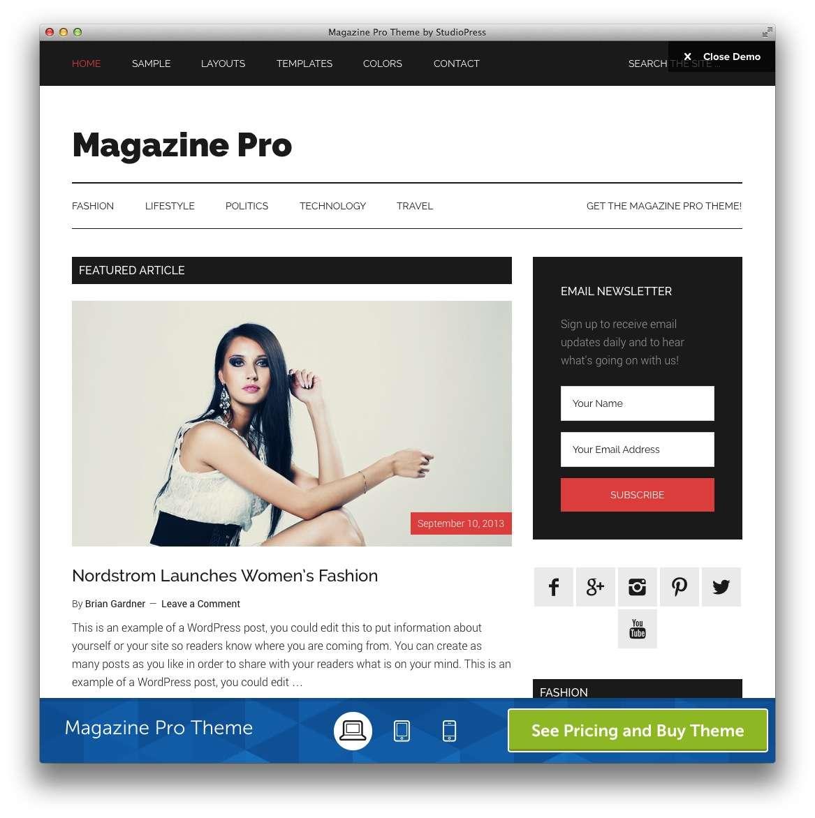 темы WordPress для журнала