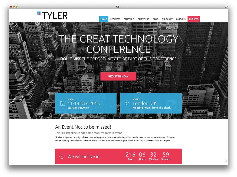 шаблоны wordpress 2015 – события и конференции1