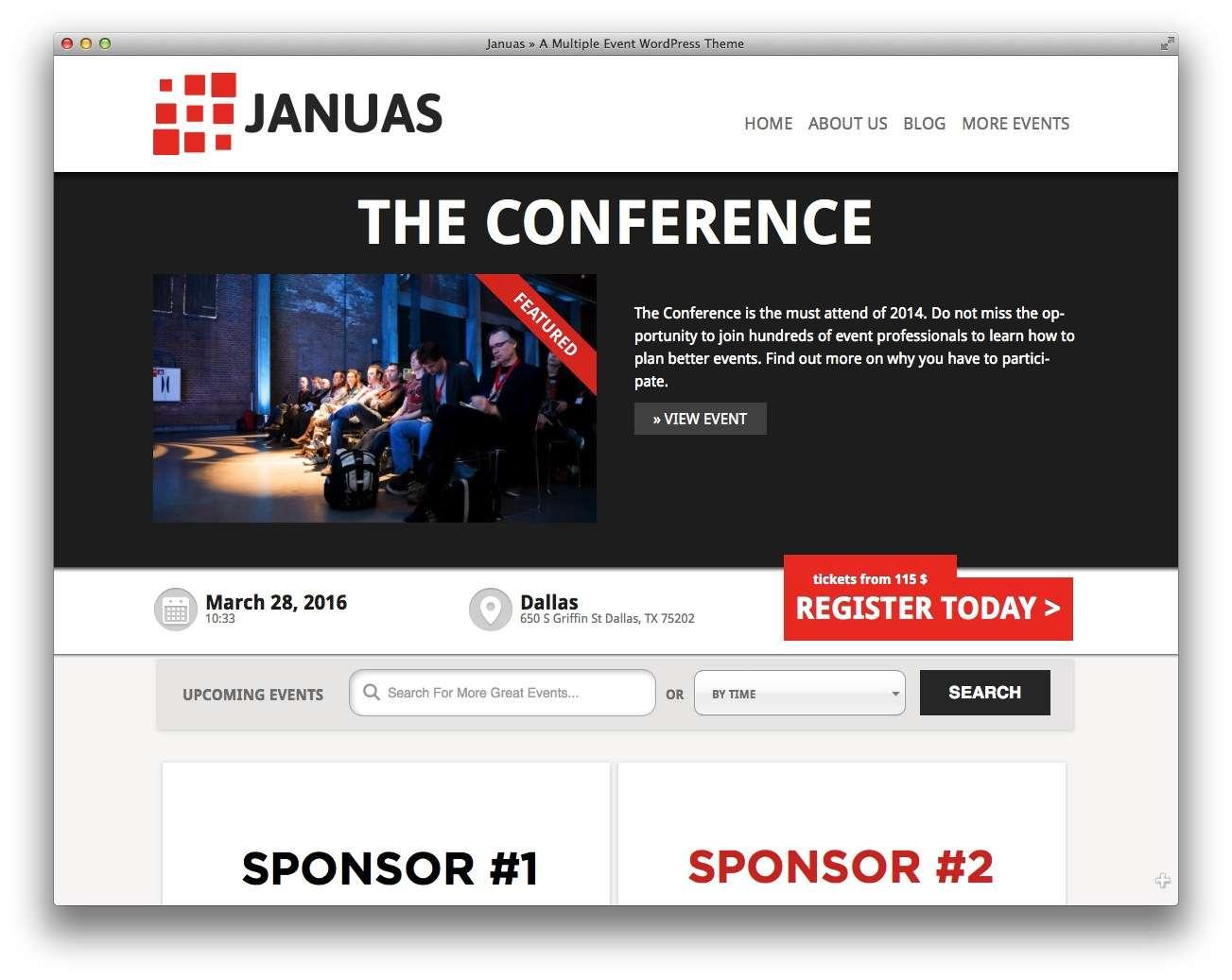 шаблоны wordpress 2015 – события и конференции2