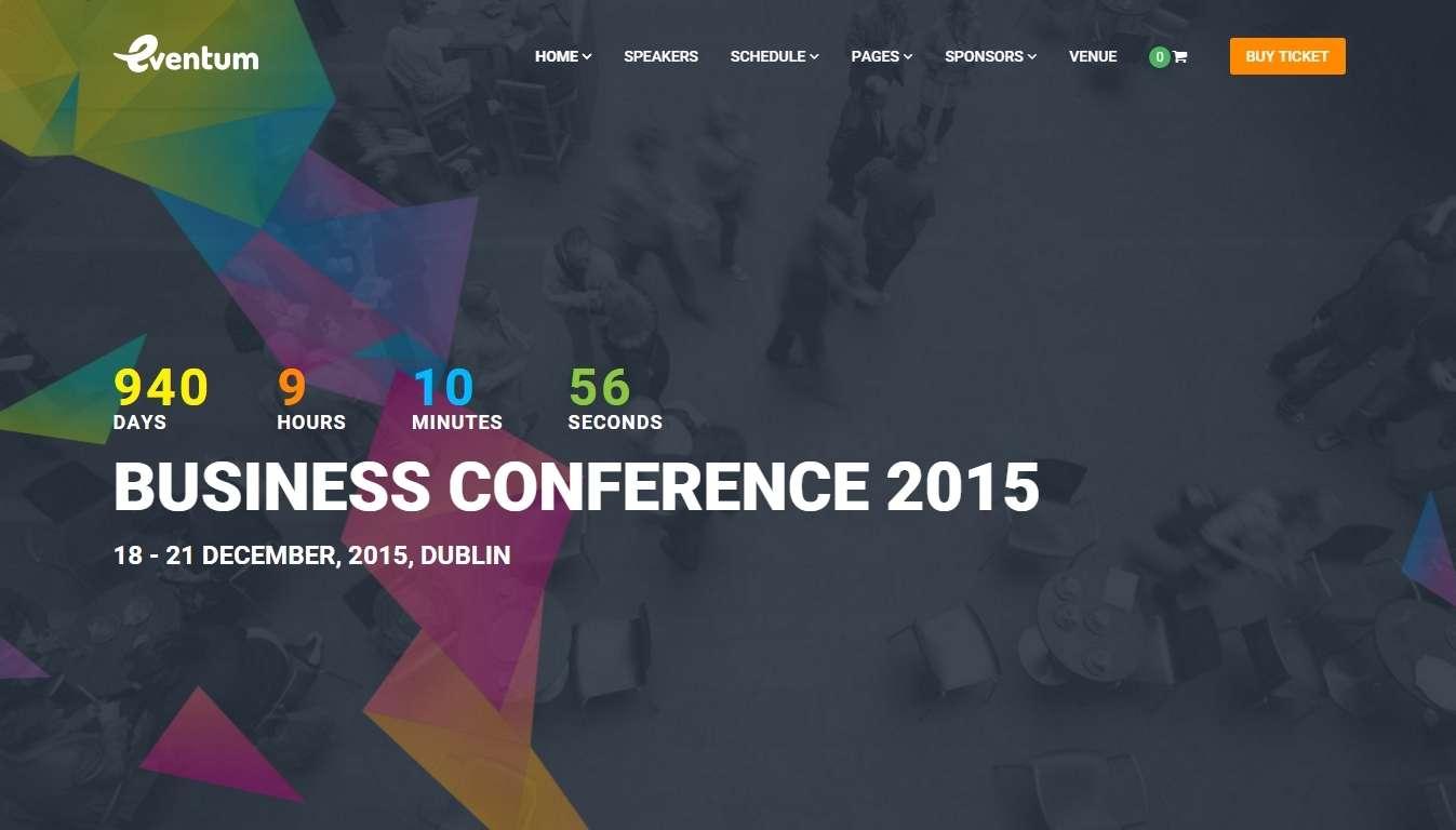 шаблон для бизнес конференций и событий