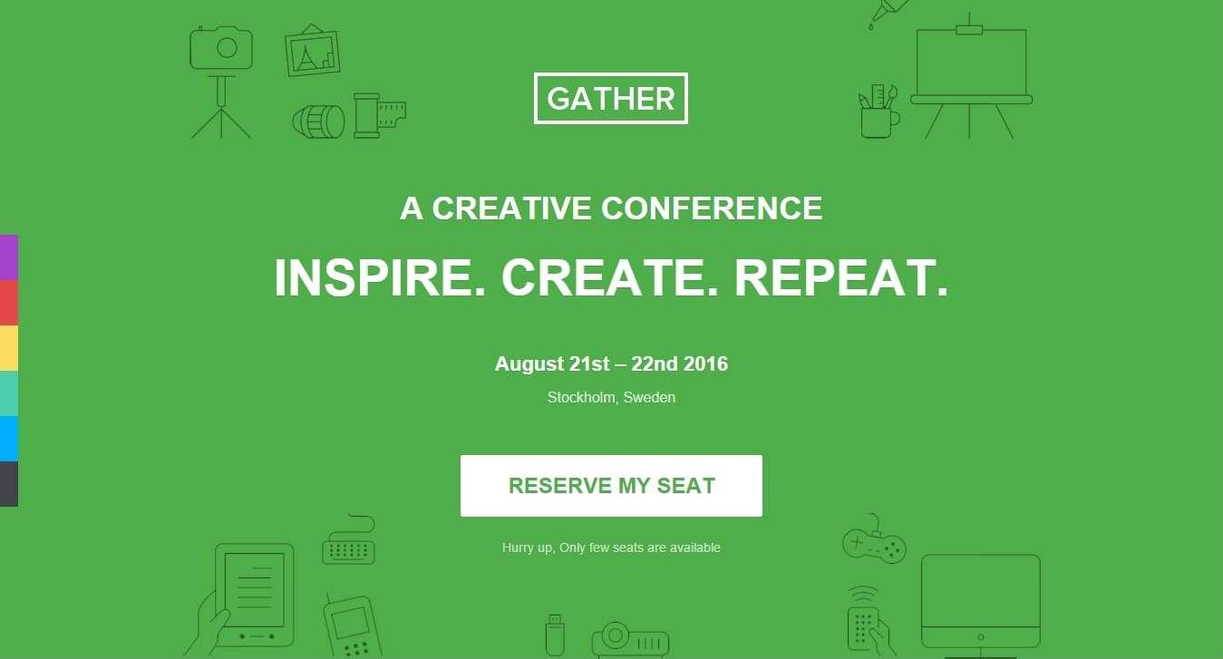 шаблон сайта для бизнес конференций и событий