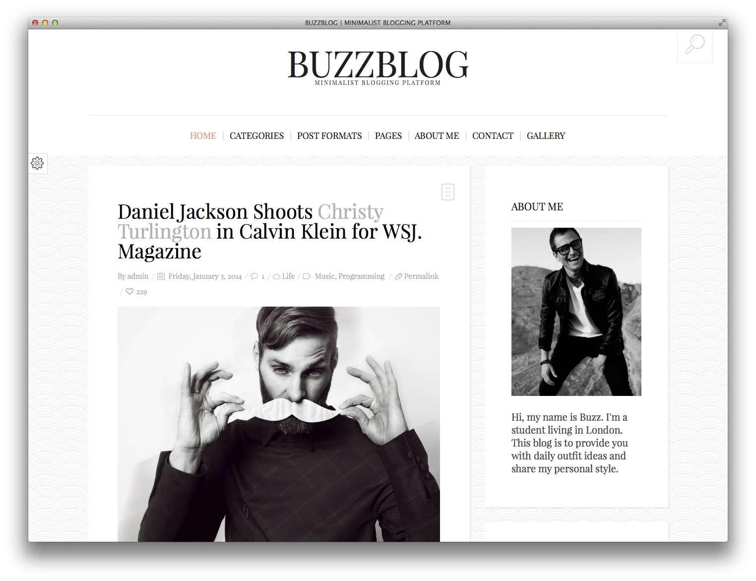 BuzzBlog wordpress тема