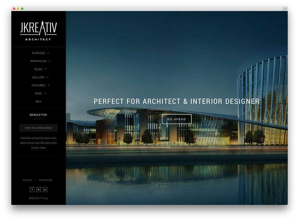WordPress Шаблоны для архитекторов и ландшафтных дизайнеров2