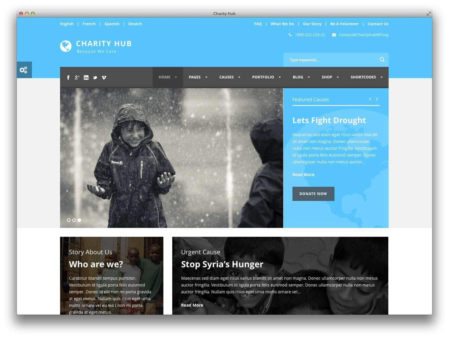 WordPress для благотворительных организаций3