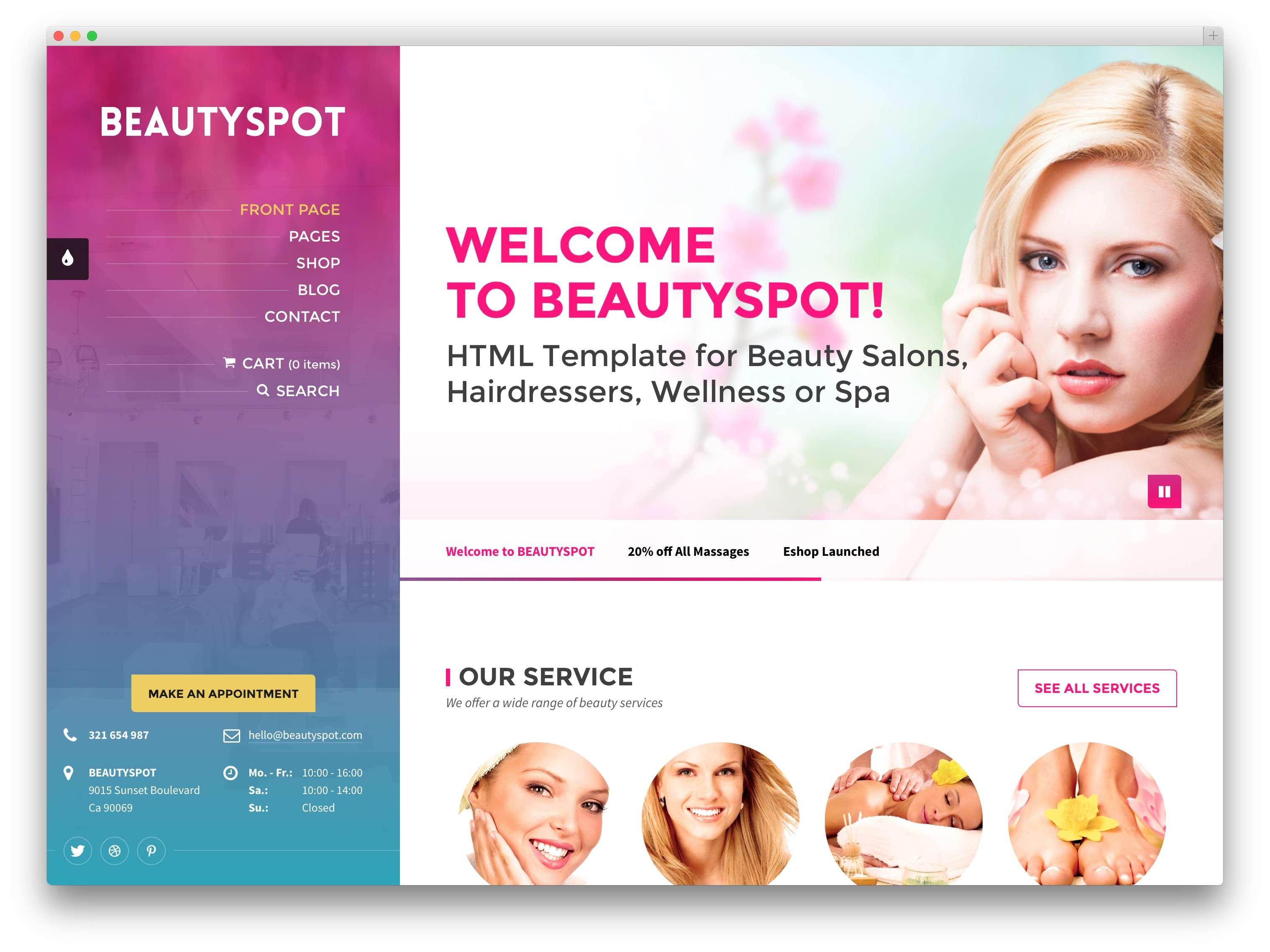 Шаблоны WordPress для салона красоты и СПА (SPA & Beauty)