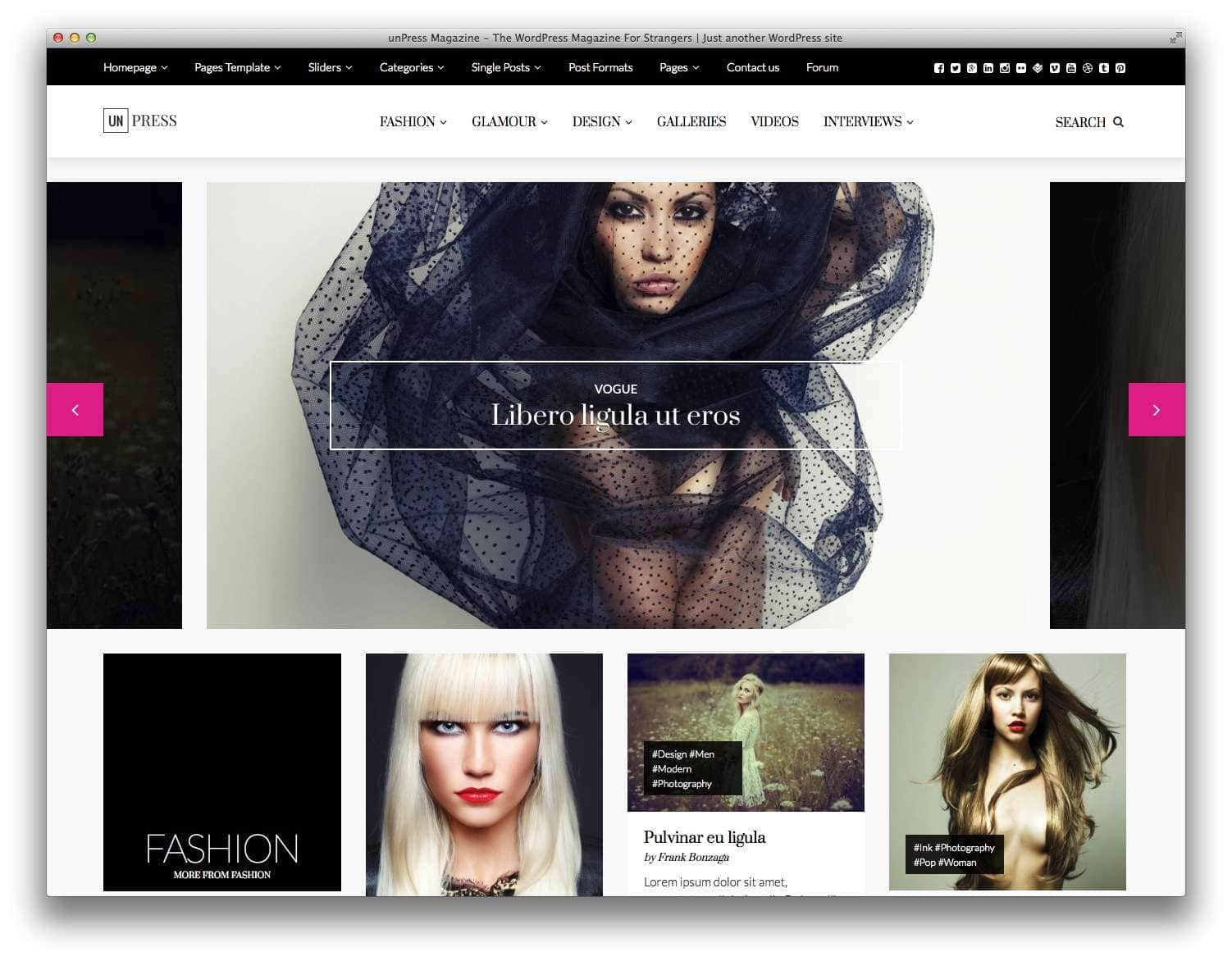 WordPress шаблоны для Fashion блогов и журналов1