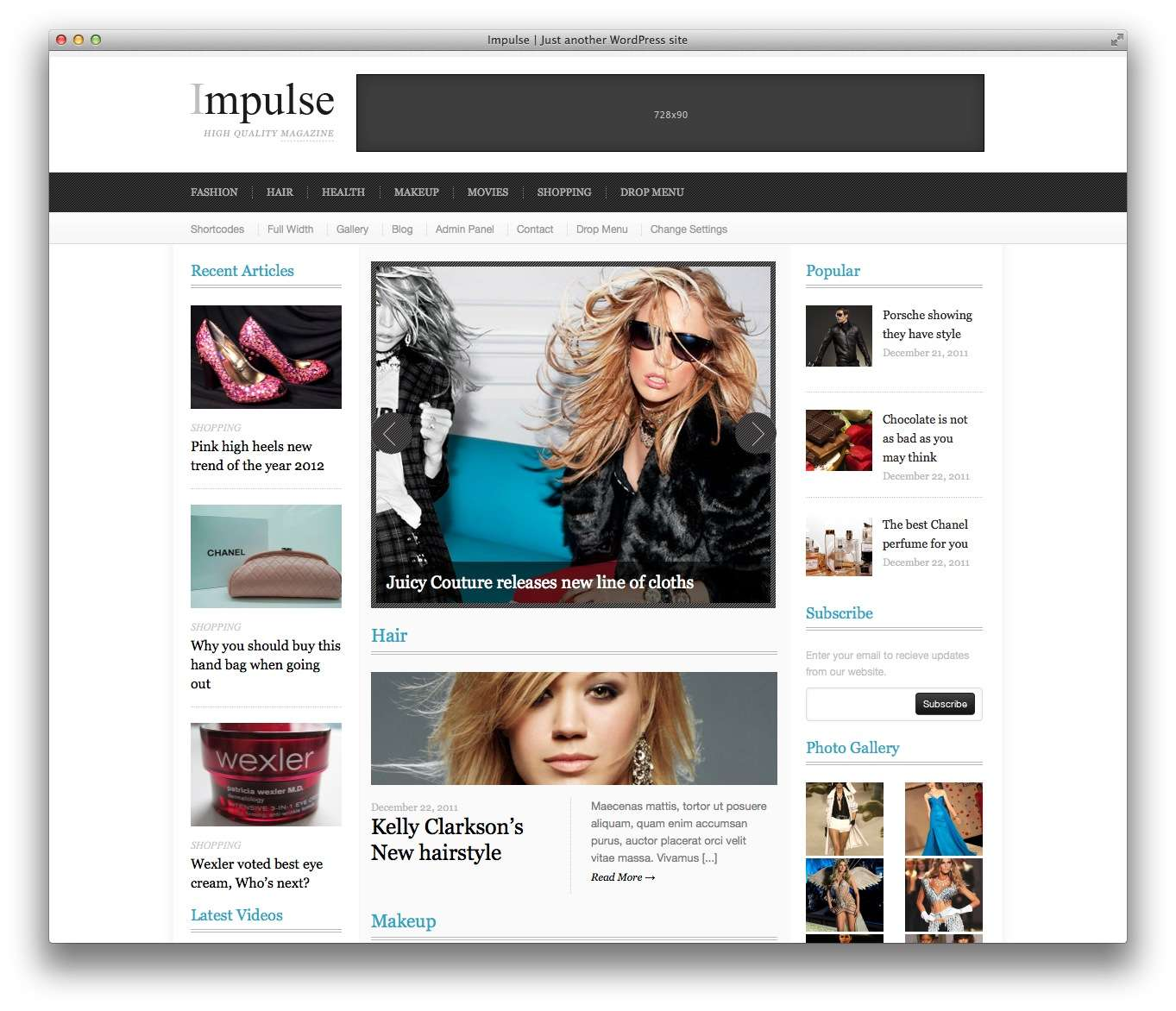 WordPress шаблоны для Fashion блогов и журналов11