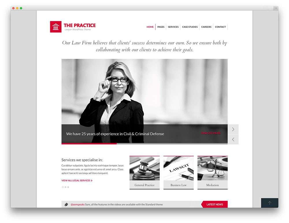 WordPress – Адвокаты и юридическая практика7