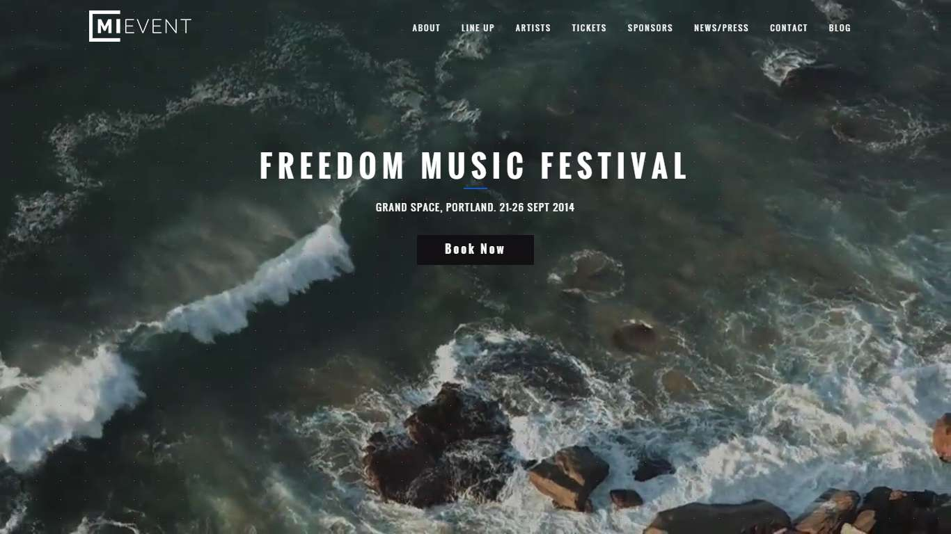 Wordpress шаблон для событий, концертов и музыкальных фестивалей