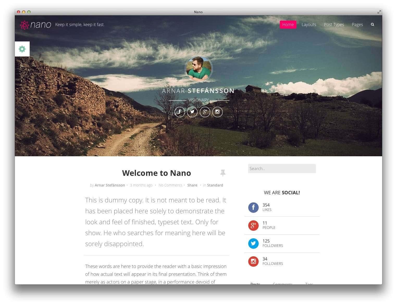 nano wordpress блог