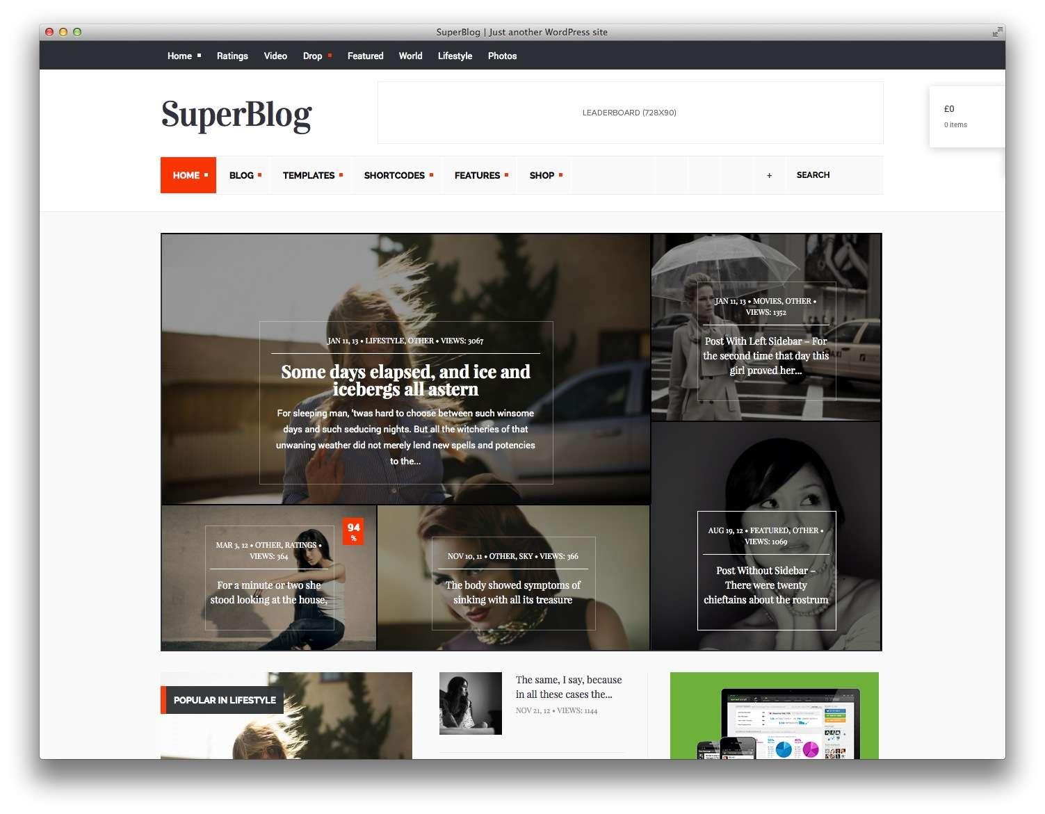superblog-wordpress тема