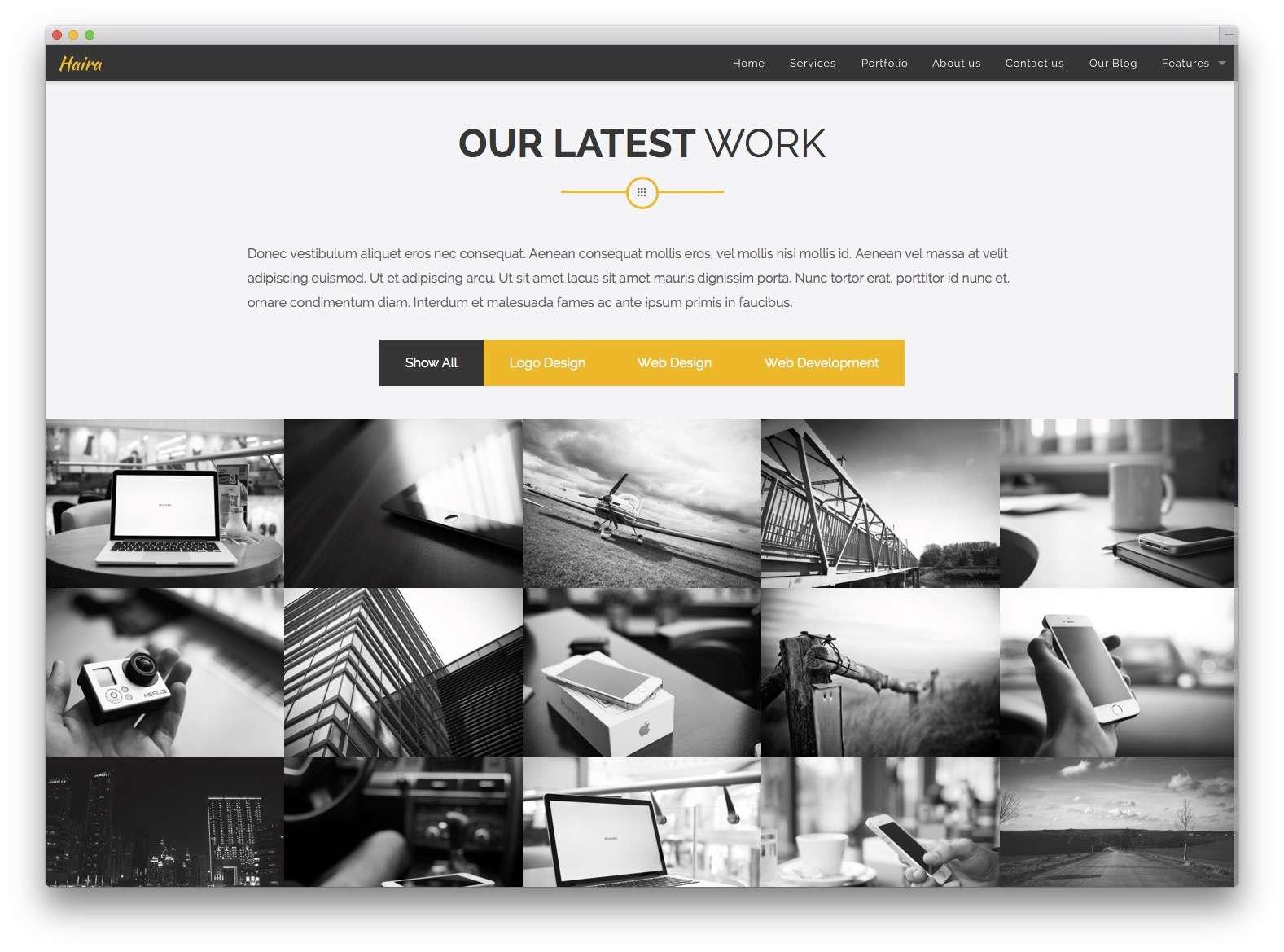 Шаблоны WordPress для портфолио 201522