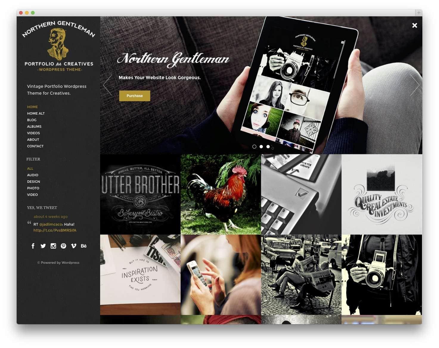 Шаблоны WordPress для портфолио 20159