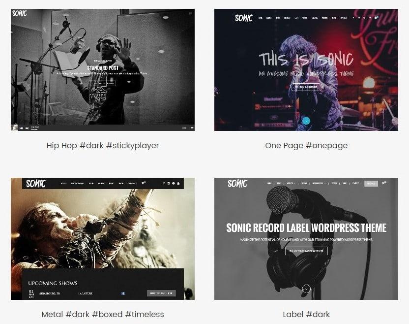 лучшие шаблоны WordPress музыка 01