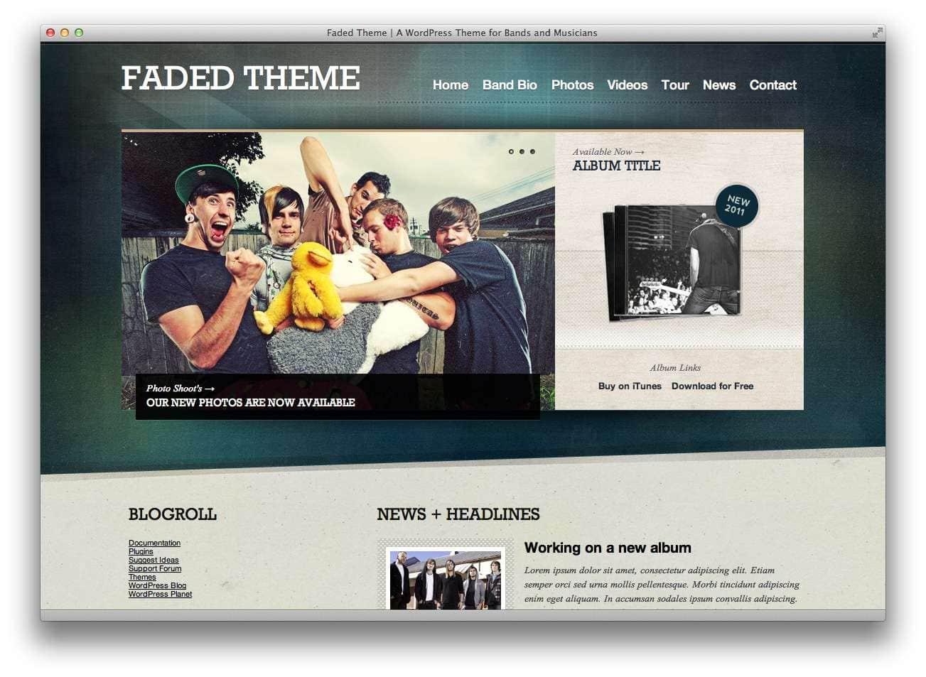 музыкальные темы WordPress10