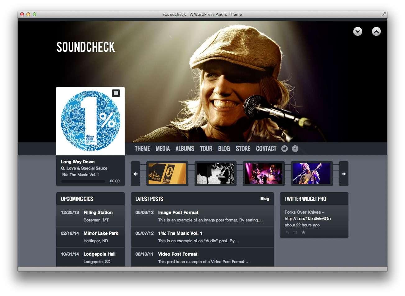 музыкальные темы WordPress