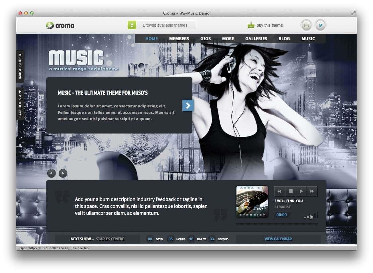 музыкальные темы WordPress7