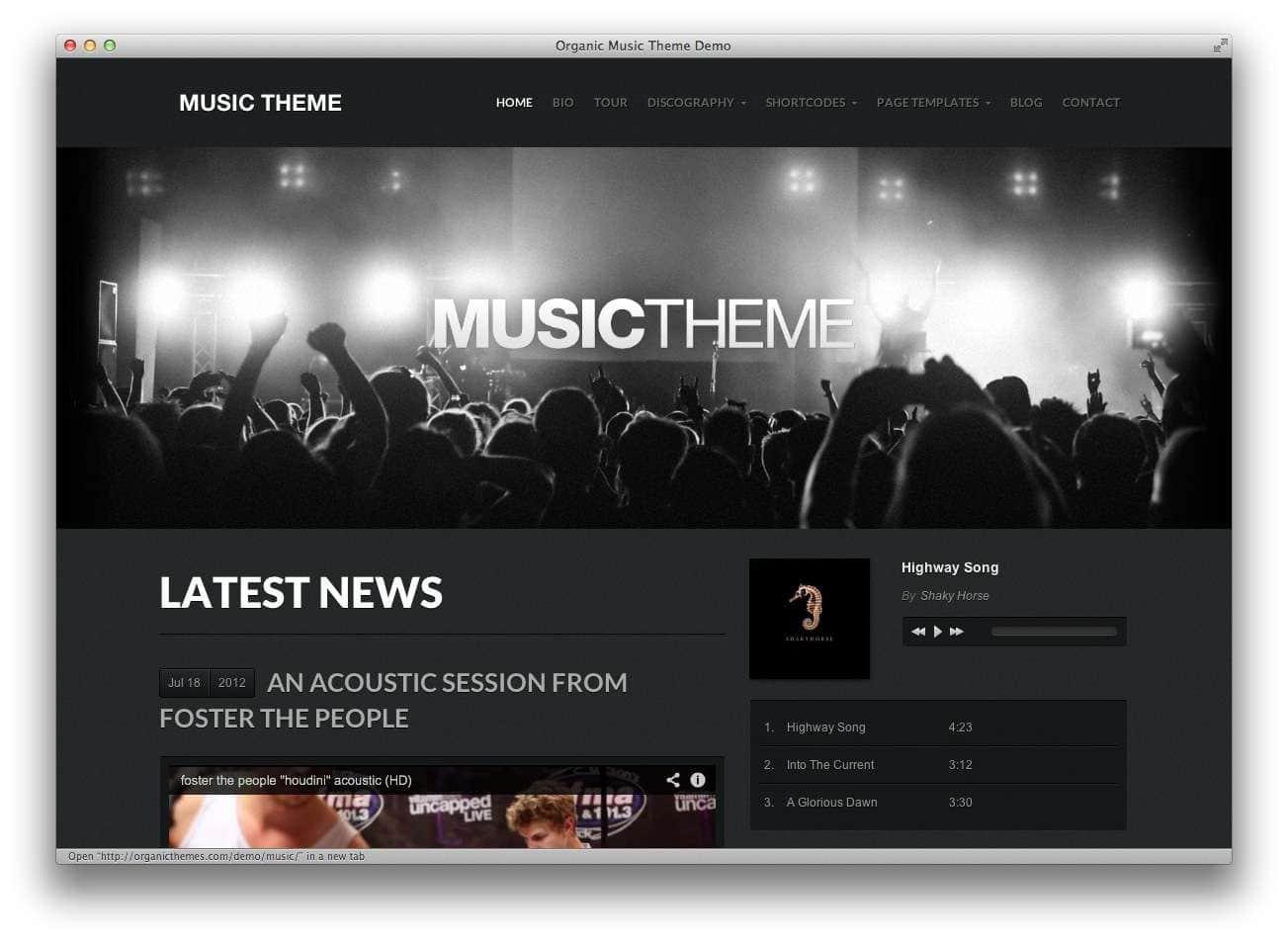 музыкальные темы WordPress9