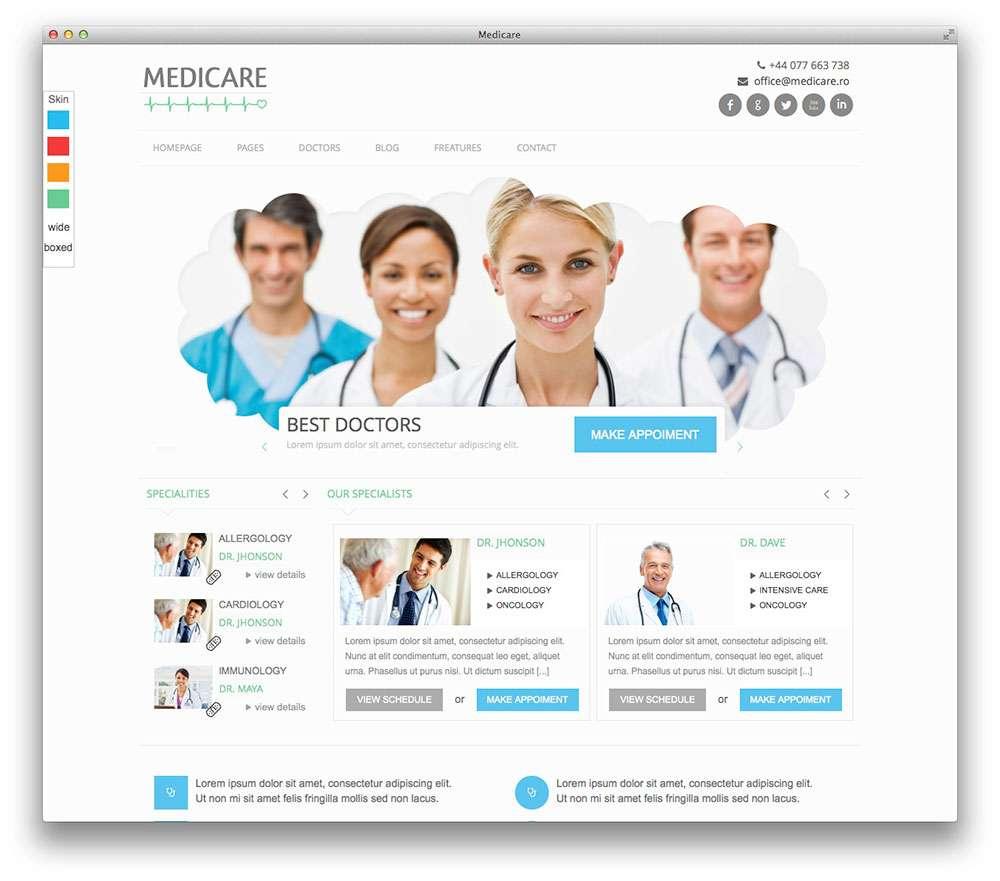 WordPress темы о здоровье и медицине для больниц, клиник, докторов