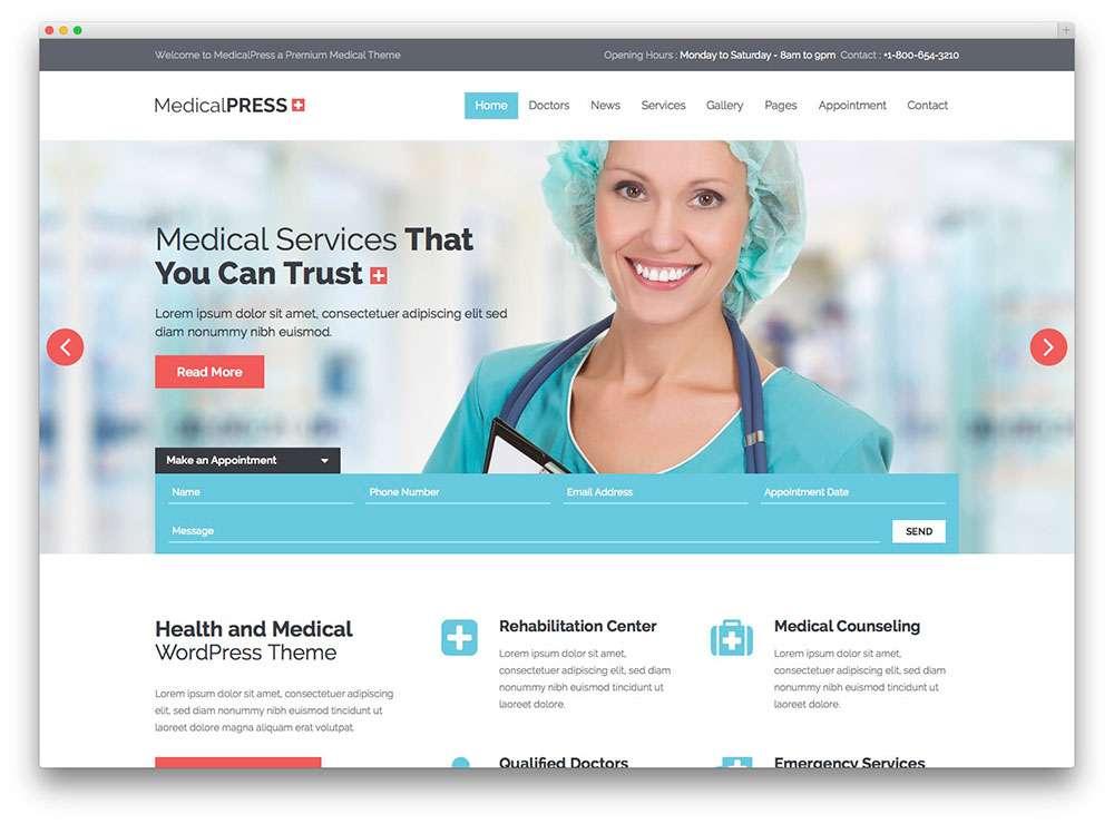 WordPress темы о здоровье 2