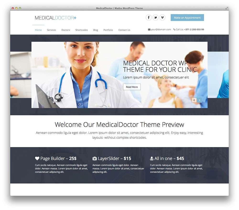 WordPress темы о здоровье 21