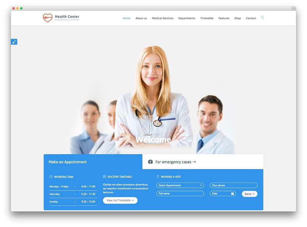 WordPress темы о здоровье 3