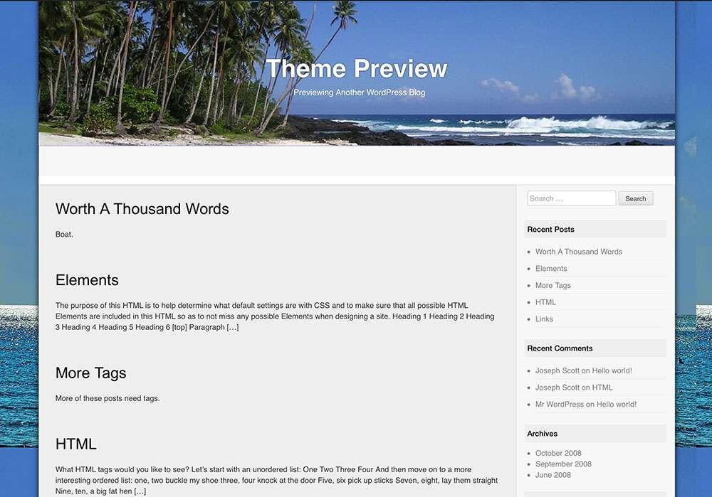 Бесплатные шаблоны WordPress для блогов