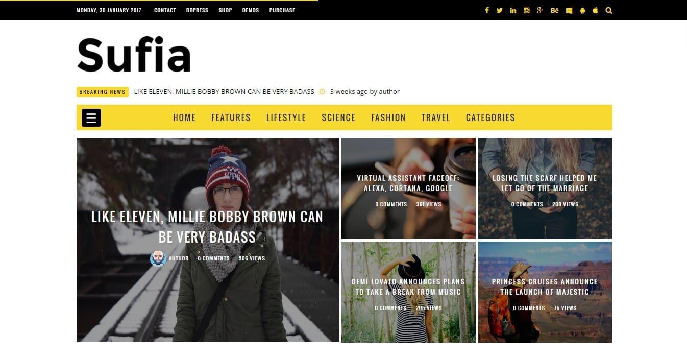 демо шаблоны WordPress с контентом и современным дизайном 06