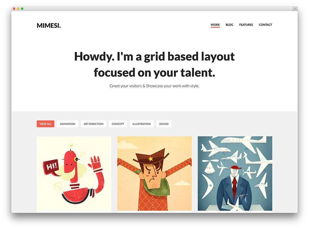 WordPress темы для музыкантов, певцов, художников