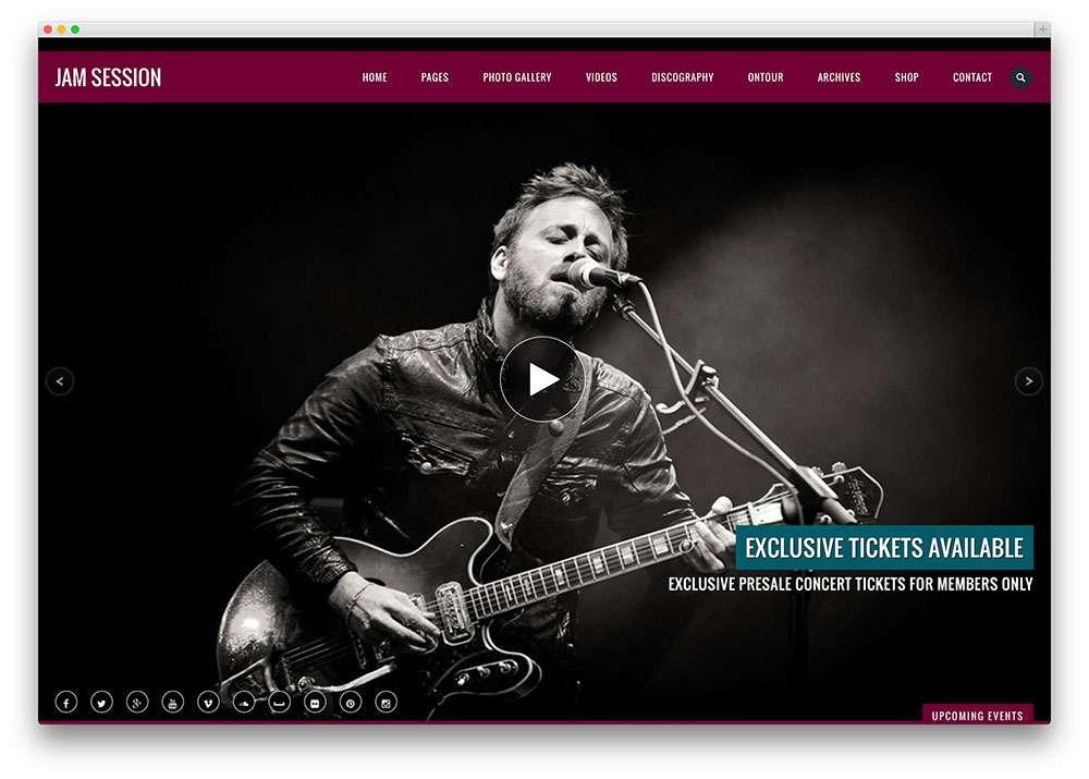 Лучшие музыкальные темы WordPress
