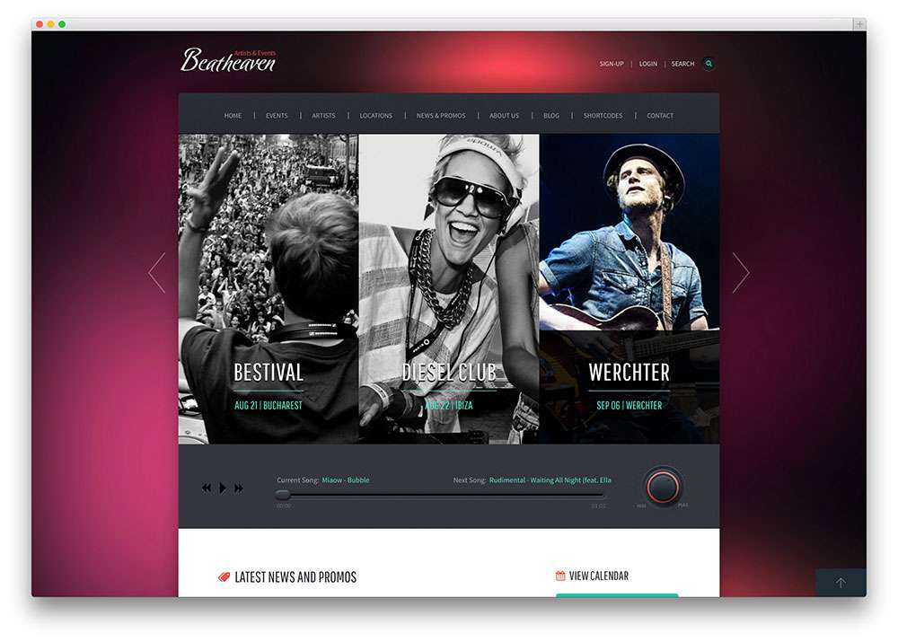 2015 Вордпресс шаблоны для артистов