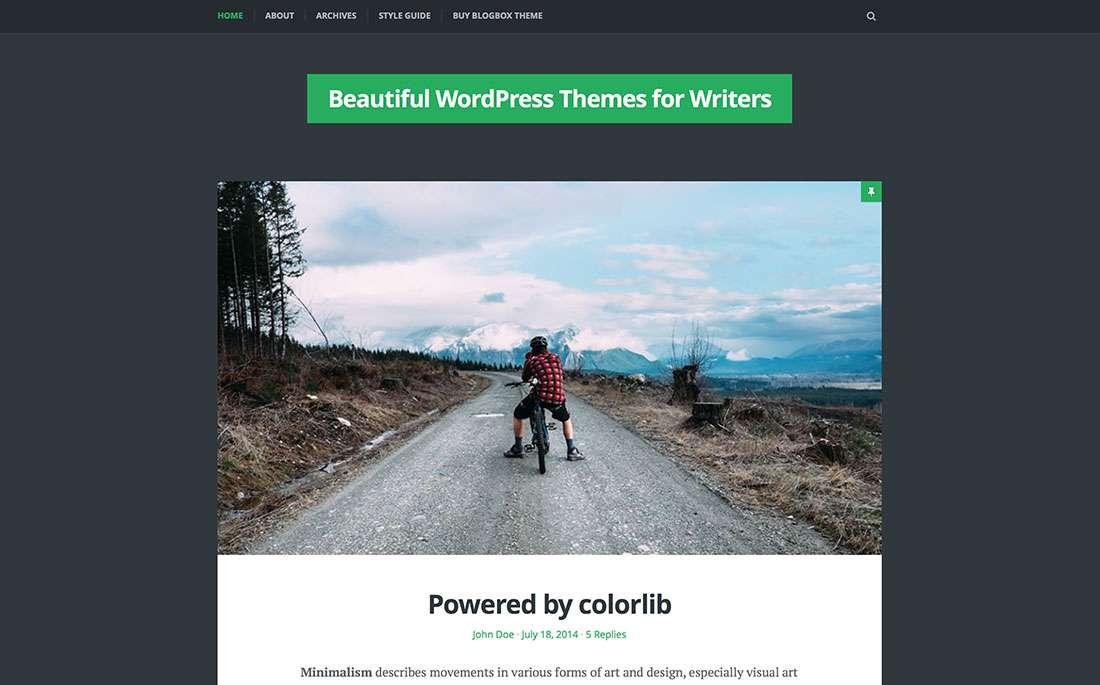 Лучшие WordPress темы для писателей и блогеров