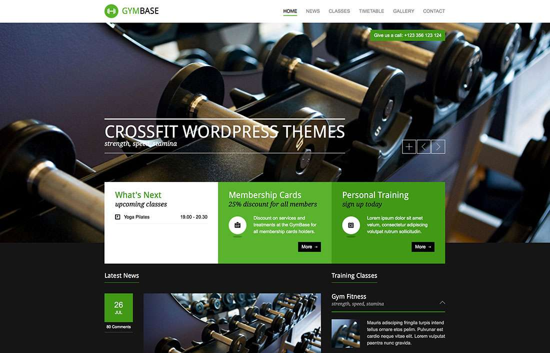 Красивые темы WordPress «Кроссфит-2015» – Шаблоны Вордпресс для спортзалов и фитнес-клубов