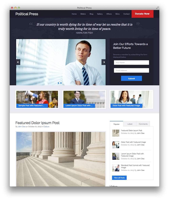 Выборы 2015 – Шаблоны Вордпресс для создания сайта кандидата