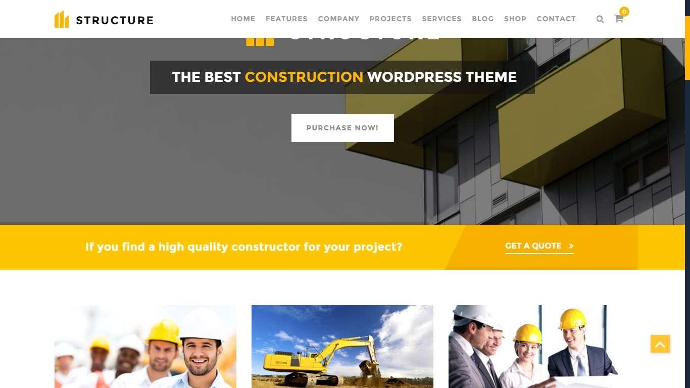 шаблоны сайта строительной компании на Вордпресс (2)