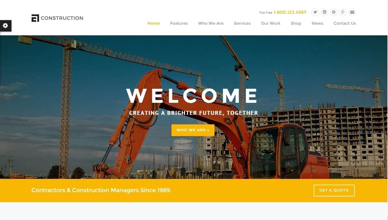 шаблоны сайта строительной компании на Вордпресс