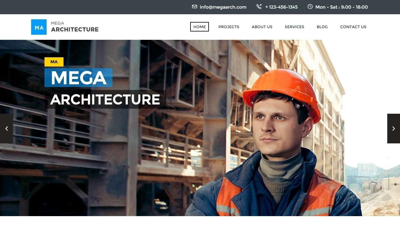 шаблоны сайта строительной компании (2)