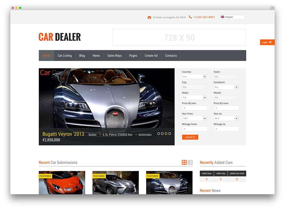 Темы WordPress для сайта автосалона, ремонта или оренды автомобилей