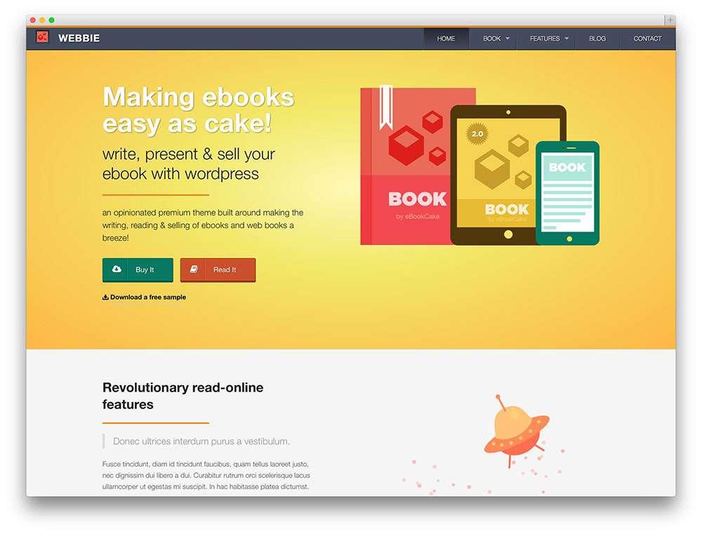 Шаблоны Вордпресс eBooks 2015